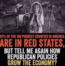 Meme Poor - are 97 of the nation s 100 poorest counties in red states politifact