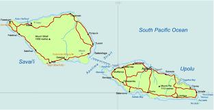 samoa in world map geography of samoa