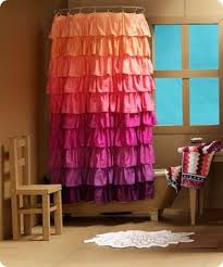 Ruffle Shower Curtain Anthropologie I This Colorful Shower Curtain Crafty Fabulous Ideas