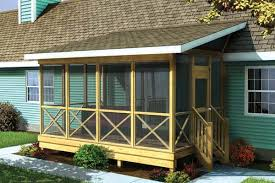 covered porch plans project plan 90012 screened porch w shed roof