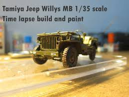 tamiya jeep willys mb 1 35 scale timelapse build and paint youtube