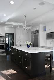 espresso kitchen cabinets with white quartz countertops white cabinets espresso island design ideas