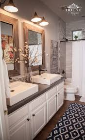 small bathroom countertop ideas the rustic accents white sinks and cabinetry and the