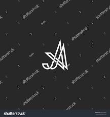 Create Monogram Initials Monogram Initials Aa Letters Logo Overlapping Stock Vector