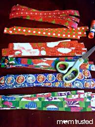 gift wrap scraps christmas card preschool activities and