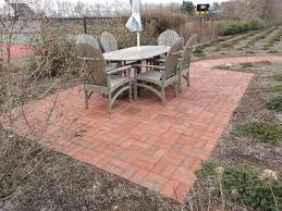 patio outdoor wonderfull red brick stone paver patterns design