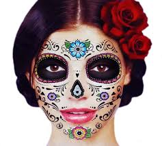 amazon com glitter floral day of the dead sugar skull temporary