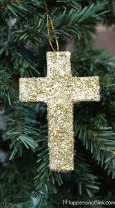 Christmas Ornaments Michaels Glitter Cross Christmas Ornament