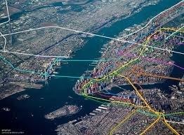 Metro Map New York by See Nyc U0027s Subway Lines Superimposed Over An Aerial Photo Of The