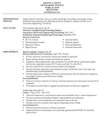 Technician Resume Examples by Electronic Technician Resume Example Http Resumesdesign Com