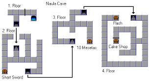 phantasy maps phantasy cave phantasy 1 naula cave