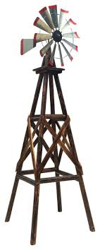 char log windmill ii rustic garden statues and yard by