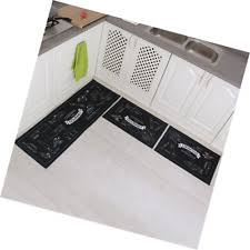 non slip kitchen mat rubber backing doormat runner rug set home
