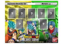 dragon ball super tcg deck box set mighty heroes preorder