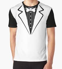 fake bow tie tuxedo t shirt