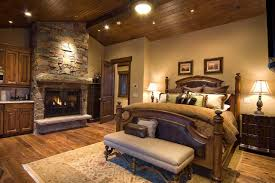 Bedroom Fireplace Ideas by Rustic Bedroom Fireplace Ideas Brown Mahogany Platform Beds