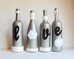silver wine bottles wine bottle set beautifulpink rustic twine wrapped wine