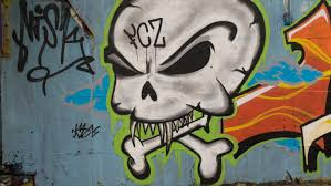 free images decoration spray color colorful graffiti drawing creativity illustration mural murals skull and crossbones wall painting artfully modern art sprayer hauswand facade paint painted