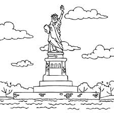 statue liberty bedloe u0027s island coloring download