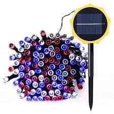 qedertek solar string lights 200 led solar string lights 73ft multi color fairy lights 8 mode