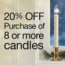 christmas window candles timer controlled battery or plugin