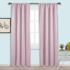 Baby Pink Curtains Nicetown Living Room Blackout Curtains Nursery