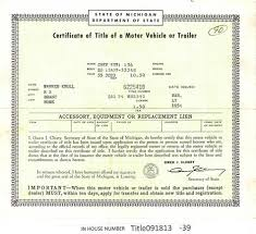 vintage 1935 chevrolet sd auto title only historical document from