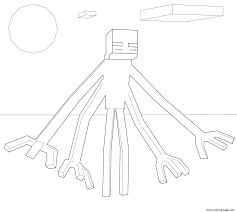 minecraft muntant enderman coloring pages printable