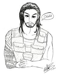 wwe coloring pages roman reigns coloring