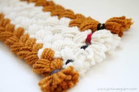 braided scarf chunky braided scarf girl glam