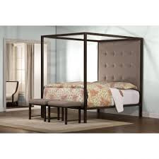 bedroom furniture bedroom simple canopy without curtain made of curtain made of stainless steel in black finish having gray leather tufted high headboard stainless steel canopy bed canopy bed ideas modern canopy
