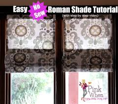 Blinds For Windows With No Recess - diy no sew roman shades video tutorial youtube