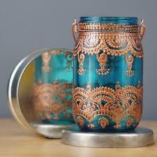 Moroccan Style Home Decor Moroccan Inspired Lanterns Boho Hanging Mason Jar Candle