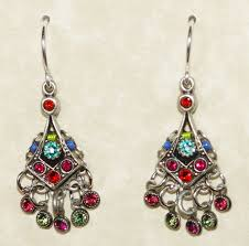 petite chandelier firefly earrings petite chandelier mc multi color stones in 1