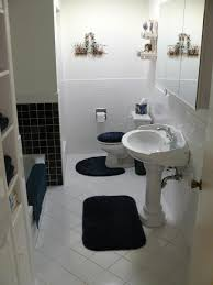 Wall Accessories For Bathroom by Bathroom Interesting Bathroom Decoration With Blue And White
