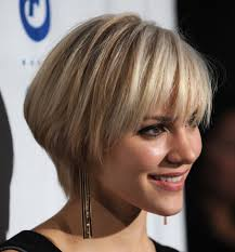 cute short blonde bob hairstyles for womens from katharine mcphee