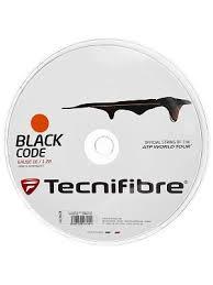 tennis warehouse black friday tecnifibre black code fire 1 28 string reel 200m tennis