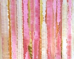ruffled streamers ivory pink and gold ruffled streamer backdrop photography