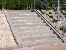 finnish natural stone references arctic red granite outdoor stairs