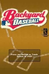 Backyard Baseball Ds Backyard Sports Series