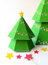 diy tree with gift boxes printable papercraft template