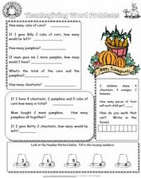 free grade 1 thanksgiving themed math worksheets thanksgiving