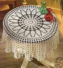Crochet Table Cloth Free Crochet Vintage Table Cloth Patterns Round Crochet