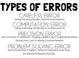 math u003d love error analysis sheet u0026 types of errors notebook page