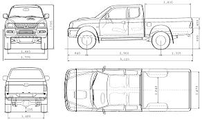 mitsubishi l200 single cab mitsubishi l200 blueprint download free blueprint for 3d modeling
