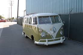 black volkswagen bus 1967 cal look bus