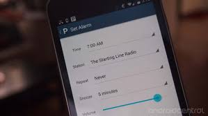 how to set alarm on android pandora for android update brings alarm clock feature android