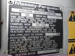 massey ferguson 383 tractor item h9853 sold september 1
