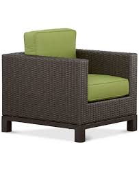 Patio Club Chair Katalina Wicker Outdoor Club Chair Created For Macy S Furniture