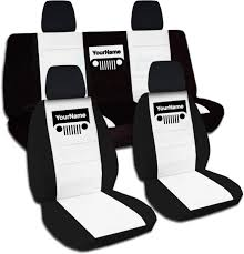 jeep wrangler back 2011 2017 jeep wrangler jk two tone grill seat covers w your name